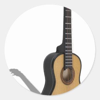 Guitar081210 Classic Round Sticker