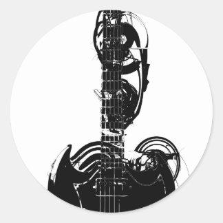 guitar_01 round sticker