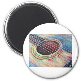 Guitar 2 6 cm round magnet
