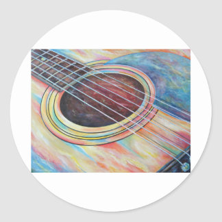 Guitar 2 classic round sticker