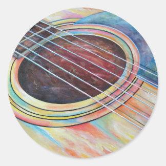 Guitar 2 round sticker