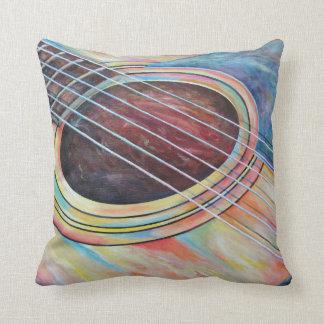 Guitar 2 throw pillow