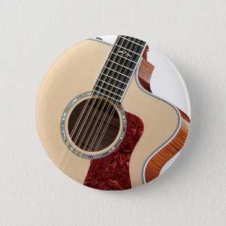 guitar 6 cm round badge