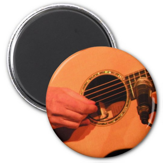 Guitar ! 6 cm round magnet