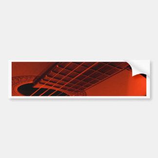 Guitar abstract. bumper sticker