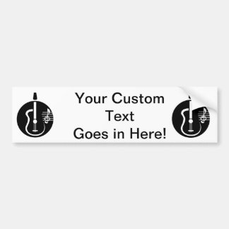 guitar abstract cutout with notes.png car bumper sticker