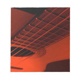 Guitar abstract. notepad