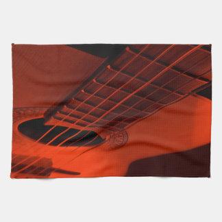 Guitar abstract. tea towel