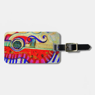 Guitar Abstracted Art by Sharles Luggage Tag