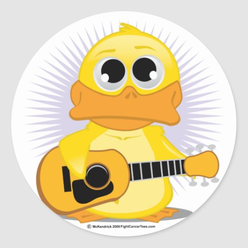 Guitar (Acoustic) Duck Stickers