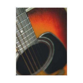 Guitar - Acoustic six string close up Canvas Print