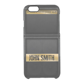 Guitar amp with custom name clear iPhone 6/6S case