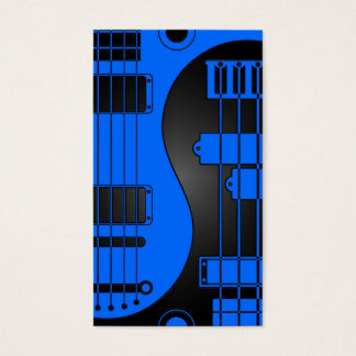Guitar and Bass Yin Yang Blue and Black