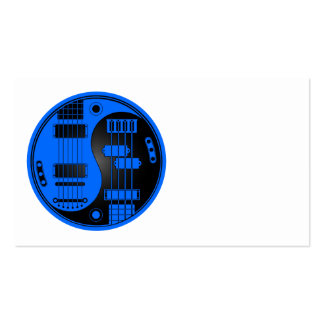 Guitar and Bass Yin Yang Blue and Black Business Card Templates