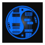 Guitar and Bass Yin Yang Blue and Black Custom Announcement
