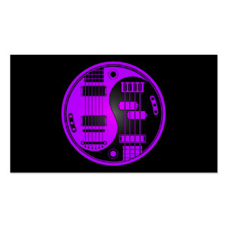 Guitar and Bass Yin Yang Purple and Black Pack Of Standard Business Cards