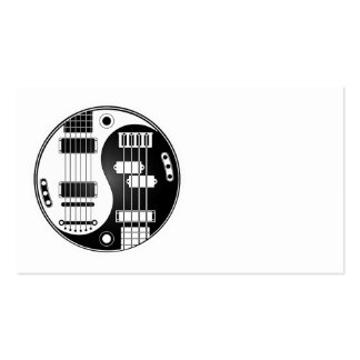 Guitar and Bass Yin Yang White and Black Business Card