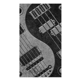 Guitar and Bass Yin Yang with Dark Texture Business Cards