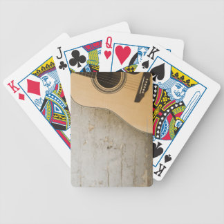 Guitar and Bricks Bicycle Playing Cards
