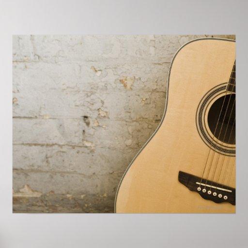 Guitar and Bricks Posters