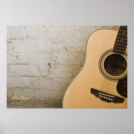 Guitar and Bricks Poster