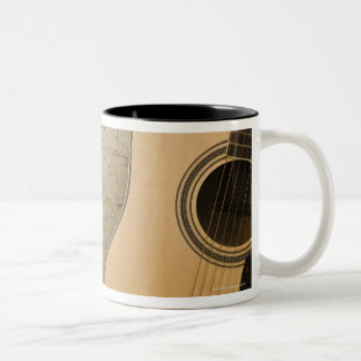 Guitar and Bricks Two-Tone Coffee Mug