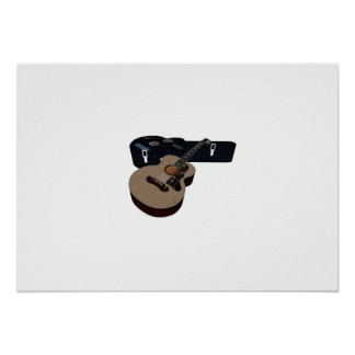 Guitar and Case Poster