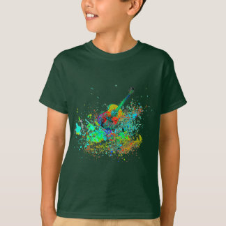 Guitar and chords splatter T-Shirt