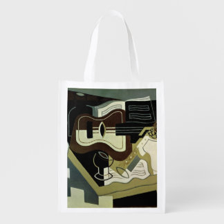 Guitar and Clarinet, 1920 Reusable Grocery Bag