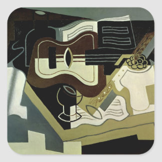 Guitar and Clarinet, 1920 Square Sticker
