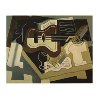 Guitar and Clarinet, 1920 Wood Print