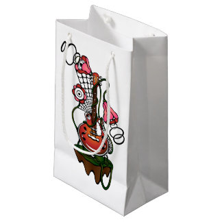 guitar and flowers small gift bag