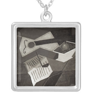 Guitar and Fruit bowl, 1926 Silver Plated Necklace
