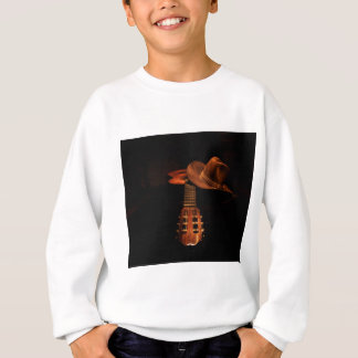 Guitar and hat sweatshirt