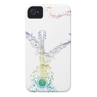 Guitar and Music Notes 8 iPhone 4 Case-Mate Cases