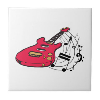 GUITAR AND MUSIC SMALL SQUARE TILE