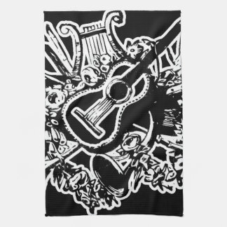 Guitar and Musical Instruments Tea Towel
