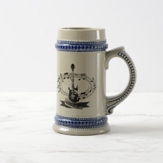 Guitar and Musical Notes Beer Stein