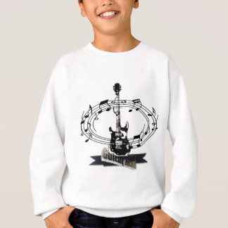 Guitar and Musical Notes Sweatshirt