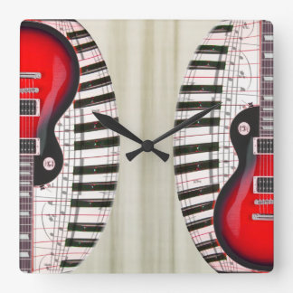 Guitar and Piano Clock