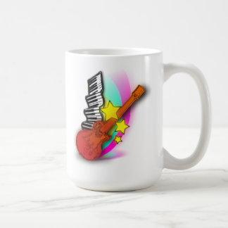 Guitar and Piano Coffee Mug