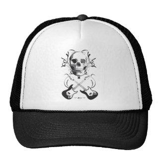 Guitar and Skull Design Hat