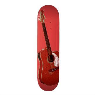 Guitar art print skate deck