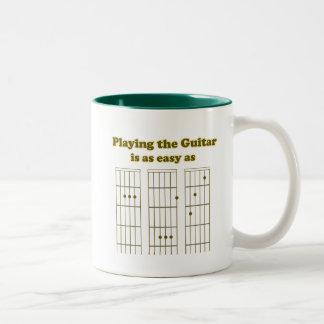 Guitar as Easy as ABC Two-Tone Mug
