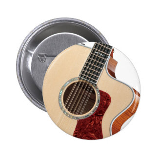 guitar 6 cm round badge