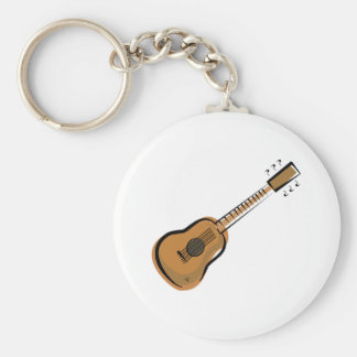 guitar basic round button key ring