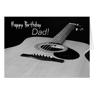 Guitar Birthday Card for Dad