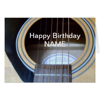 Guitar Birthday card personalise for anyone
