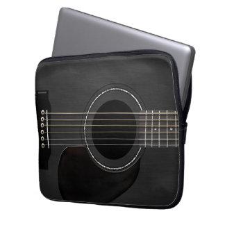 Guitar Black Laptop Sleeves
