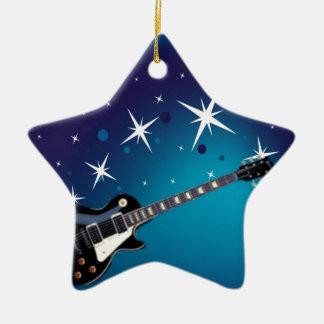 Guitar - blue christmas ornament